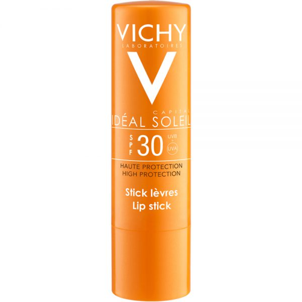 Vichy capital soleil lip balm SPF30, beskyttende leppepomade med høy solfaktor til leppene, Apotekfordeg, 922981