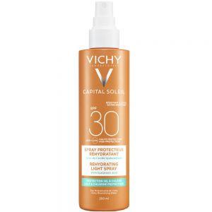 Vichy capital soleil solspray SPF30, fuktgivende solspray som motvirker uttørking av huden, 200 ml, apotekfordeg, 993827