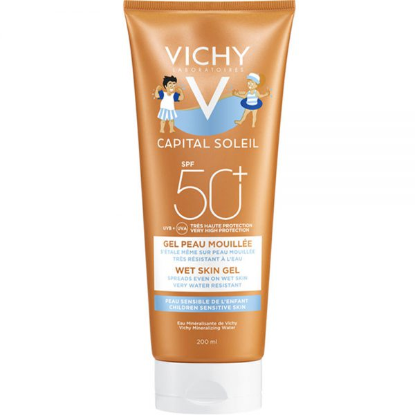Vichy capital soleil wet skin gel kid SPF50+, Apotekfordeg, 995073