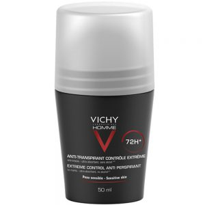 Vichy homme antiperspirant deodorant roll-on 72h uten alkohol, Apotekfordeg, 922233