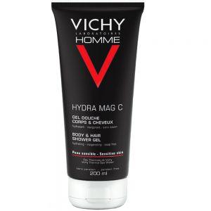 Vichy homme hydra mag c 2-i-1 dusjgel og sjampo, 200 ml, apotekfordeg, 914183