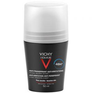 Vichy homme mild antiperspirant deodorant roll-on, Apotekfordeg, 902860