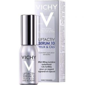 Vichy liftactiv serum 10 øye & vipper, et oppstrammende øyeserum som også styrker vippene, Apotekfordeg, 884398