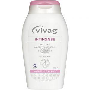Vivag Intimsåpe 200 ml mild intimvask med melkesyre, Apotekfordeg, 807309
