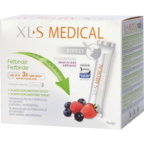 XL-S Medical Fettbinder Direct Pulversticks 90 stk - for redusert fettopptak, Apotekfordeg, 992528
