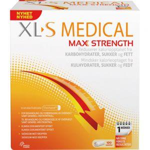 XL-S Medical Max Strength Tabletter 120 stk - for redusert kaloriopptak, Apotekfordeg, 944698