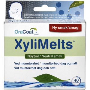 Xylimelts Nøytral Klebetabletter 40 stk, ApotekForDeg, 961874