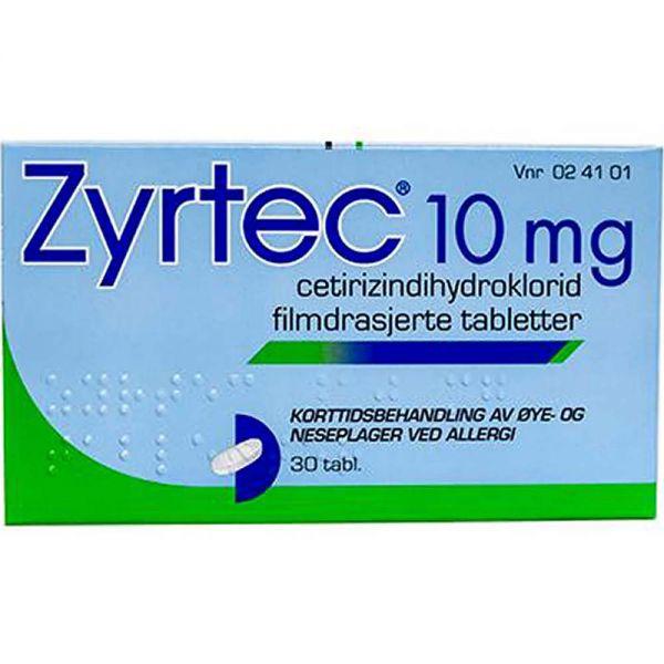 Zyrtec 10 mg, 30 stk, ApotekForDeg, 24101