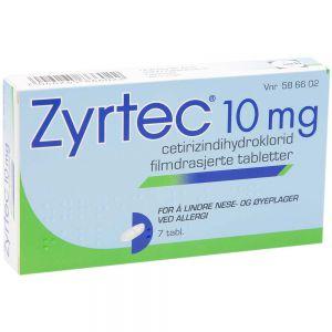 Zyrtec 10 mg, 7 stk, ApotekForDeg, 586602