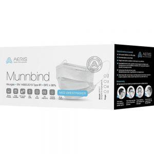Aeris munnbind type IIR 50 stk - høykvalitets kirurgisk munnbind, Apotekfordeg, 930468