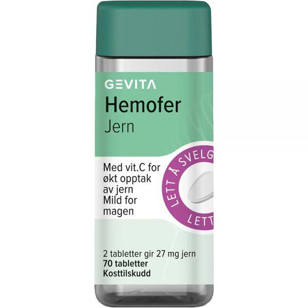 Gevita Hemofer Jern Tabletter 70 stk, ApotekForDeg, 962165