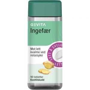 Gevita Ingefær Tabletter 90 stk, ApotekForDeg, 925644