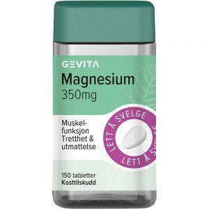 Gevita Magnesium 350 mg Tabletter 150 stk, ApotekForDeg, 884723