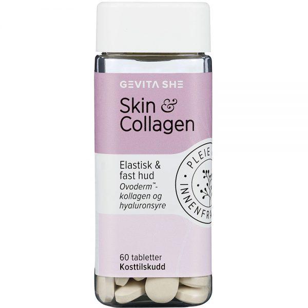 Gevita SHE Skin og Collagen Tabletter 60 stk, ApotekForDeg, 801891