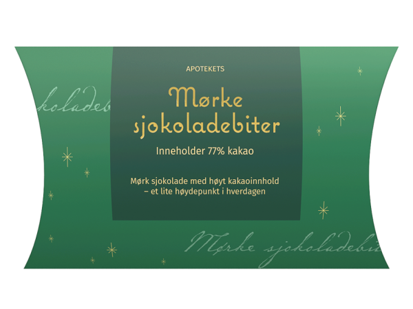 Julegodt apotekets mørke sjokoladebiter, Apotekfordeg, 822104