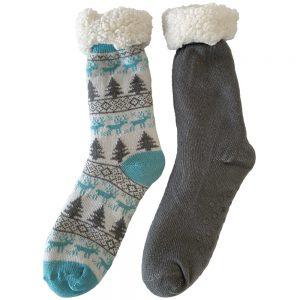 Kosesokker dame str. 37-40, fóret sokker, Apotekfordeg, 967351