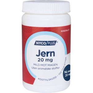 Nycoplus Jern Tabletter 20 mg 100 stk - mild mot magen, Apotekfordeg, 904915
