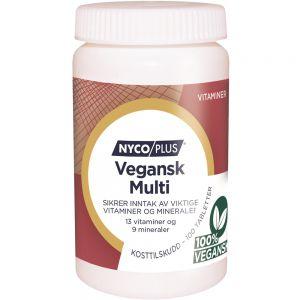 Nycoplus Vegansk Multi Tabletter 100 stk - viktige vitaminer og mineraler, Apotekfordeg, 885682