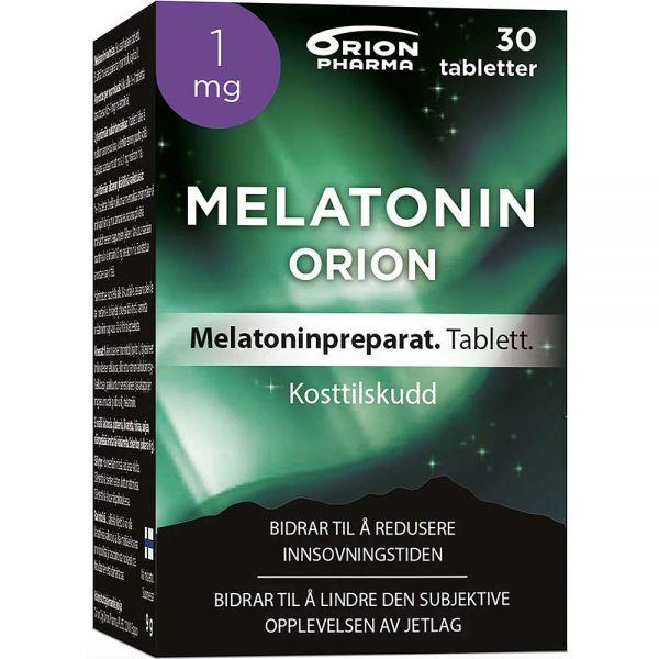Orion Melatonin Tabletter 1mg 30 stk, ApotekForDeg, 807059