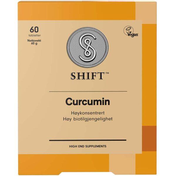 SHIFT Curcumin 60 Tabletter, Apotekfordeg, 864109