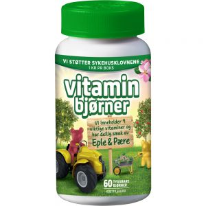 Vitaminbjørner Eple & Pære 60 stk, Apotekfordeg, 828065
