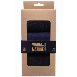 WBN ullsokker mann str. 42-45, varme sokker i pakning, 3-pk, Apotekfordeg, 928089