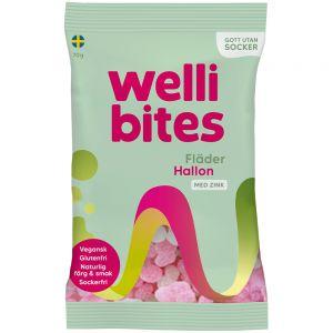 Wellibites Hyllebær & Bringebær 70 g, Apotekfordeg, 996214