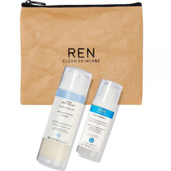 REN julegavesett m: Vita Mineral Day Cream og Rosa Centifolia cleansing gel, ApotekForDeg, 802921