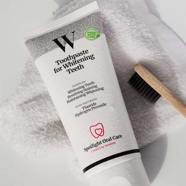Spotlight Oral Care Whitening Strips + Tannkrem 1 sett - enkel tannbleking, Apotekfordeg, 890408 - 2