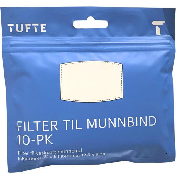 Tufte face mask filter, 10 stk, Apotekfordeg, 916875