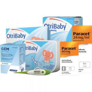 Pakkeløsning for spedbarn (0-4 måneder) med feber og forkjølelse, Apotekfordeg, 700100