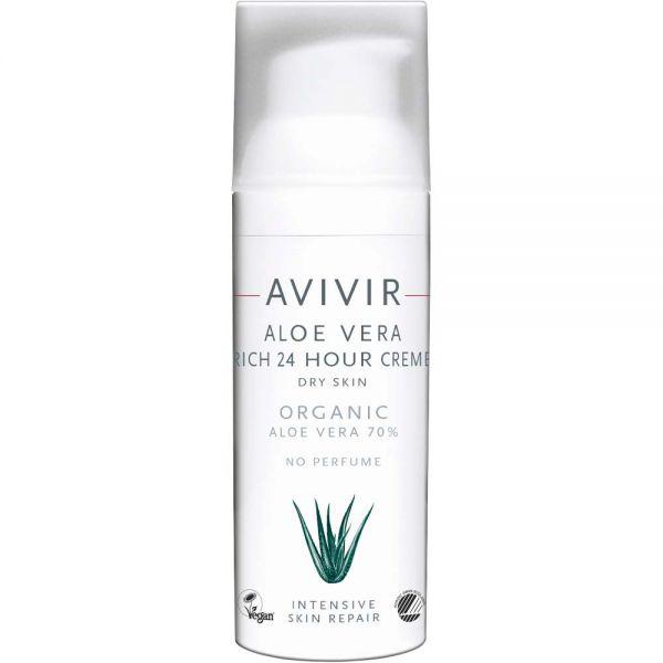 Avivir Aloe Vera Rich 24H Cream 50 ml, Apotekfordeg, 600684
