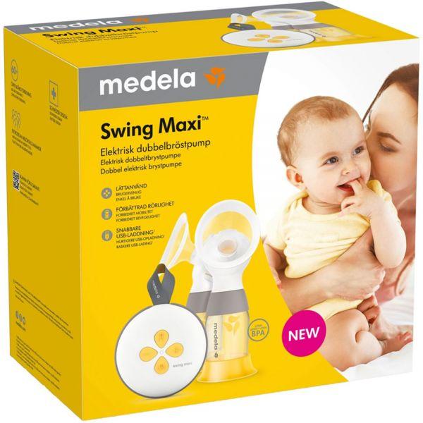Medela Swing Maxi Brystpumpe med innebygd oppladbart batteri med oppladbart batteri og USB lading, Apotekfordeg, 946610 - 1