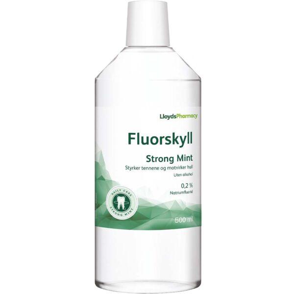 LLP Fluorskyll 0,2% Strong Mint 500 ml med sterk mintsmak, Apotekfordeg, 819245