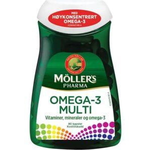 Möller´s Pharma Omega-3 Multi Kapsler 80 stk