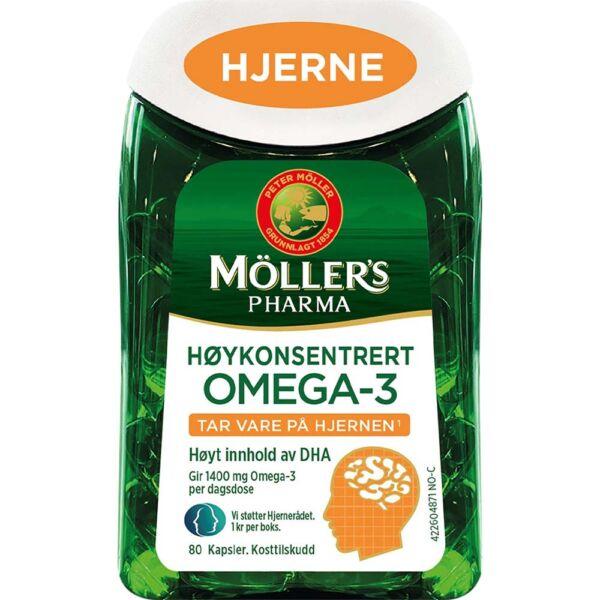 Møllers Pharma Hjerne 80 Kapsler for normal hjernefunksjon, Apotekfordeg, 927515