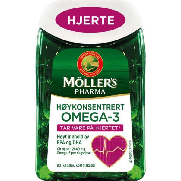 Møllers Pharma Hjerte 80 Kapsler, gunstig for hjertet, Apotekfordeg, 821973