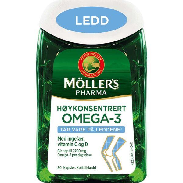 Møllers Pharma Ledd 80 Kapsler for sunne ledd, Apotekfordeg, 995820