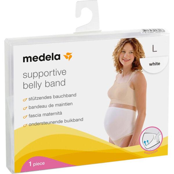 Medela graviditetsbelte hvit L, Apotekfordeg, 601116