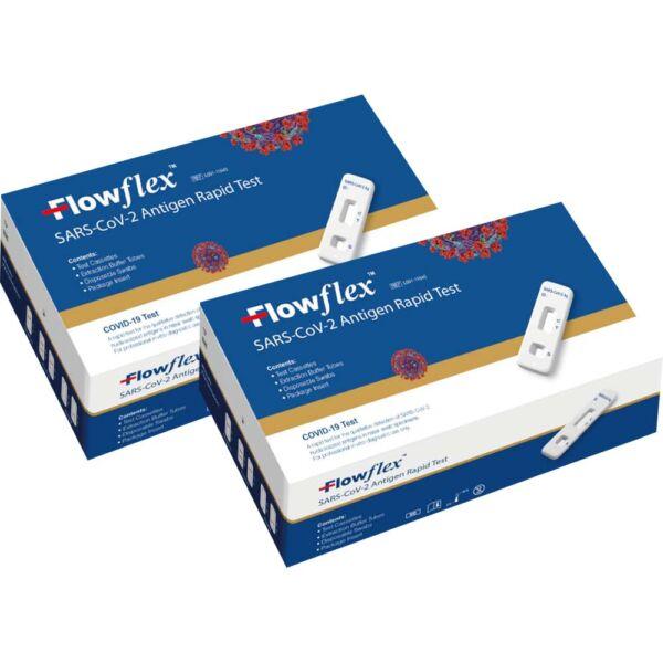 Flowflex Covid-19 Antigen Selvtest 2 stk, Apotekfordeg, 601193